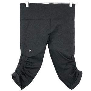 Lululemon In The Flow Crop Pants Leggings Charcoal
